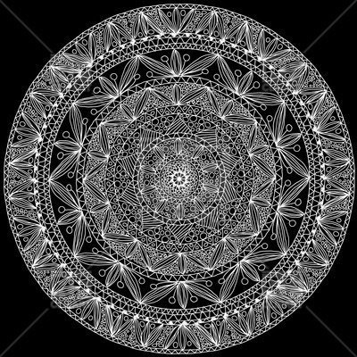 400x400 Hand Made Round Lace Vector Image Vector Artwork Of Design