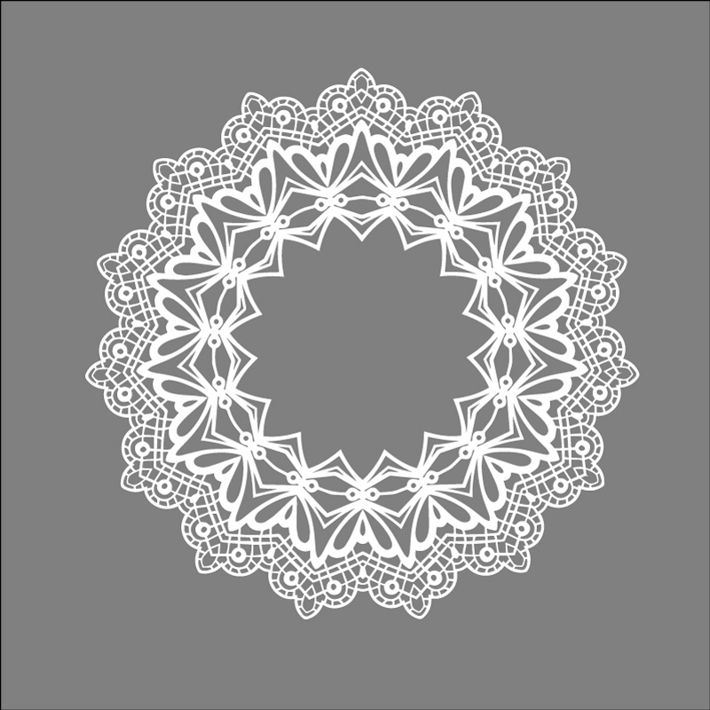 800x800 Lace Round Free Vector Graphic Download