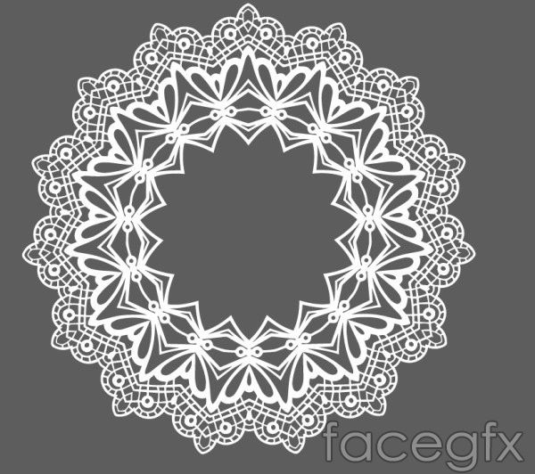 600x532 Lace Round Laces Vector Free Vectors Rounding