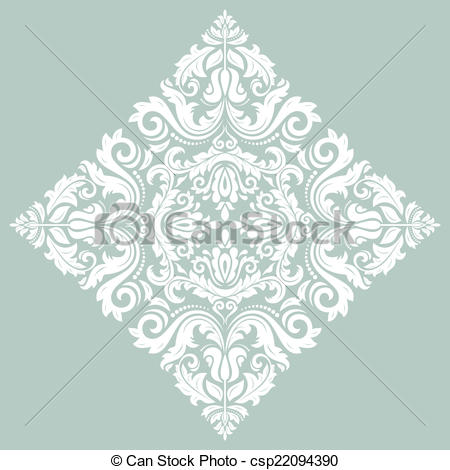 450x470 Orient Vector Ornamental Round Lace With Damask And... Eps Vectors