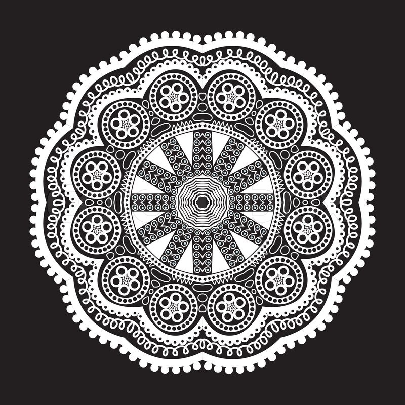 800x800 Ornamental Round Lace Pattern, Circle Background With Many Details