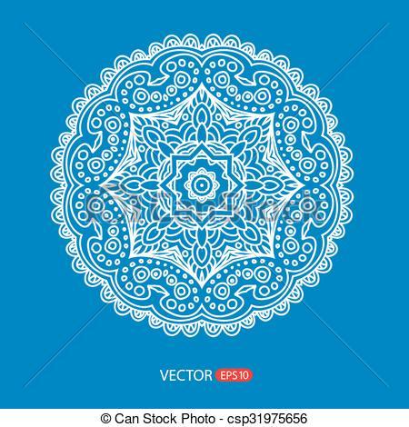 450x470 Ornamental Round Lace. Vector Design Floral Round Ornament Lace