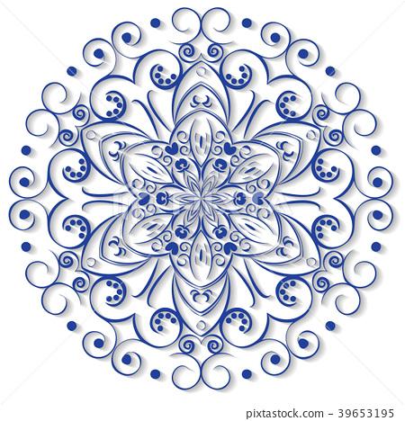 450x468 Ornamental Round Lace. Vector Illustration