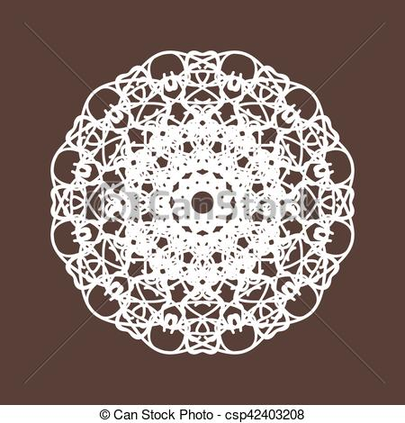 450x470 Round Lace Collection Vector Illustration.