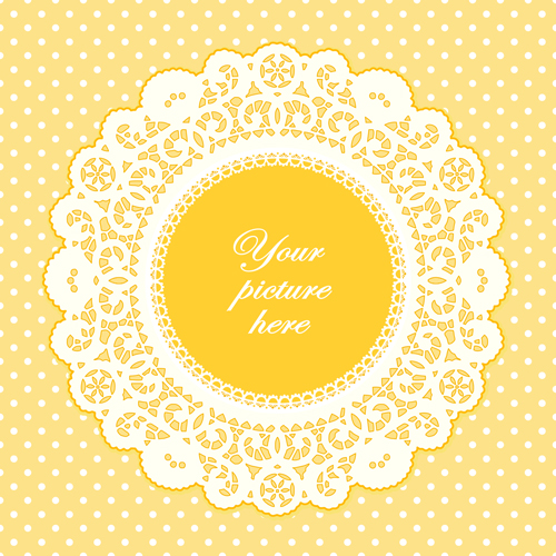 500x500 Round Lace Frames Vector Set 05 Free Download