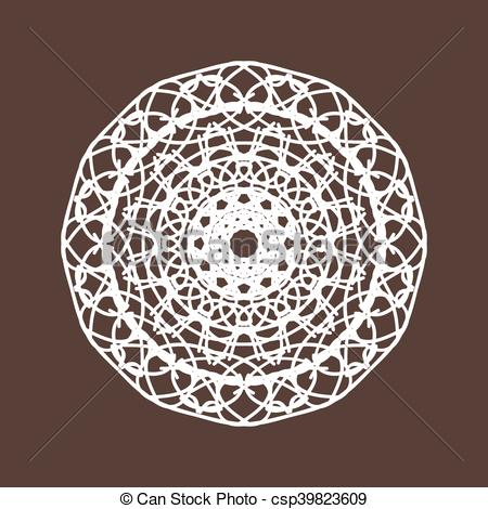 450x470 Round Lace Vector Illustration.