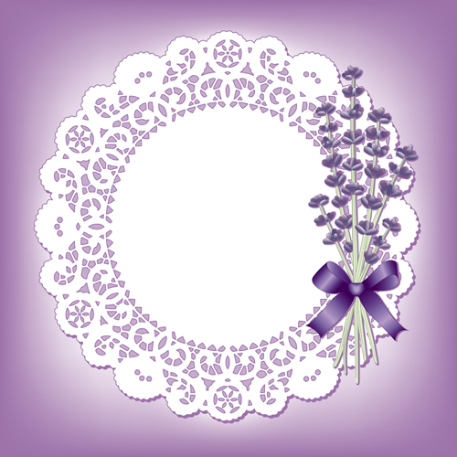 500x500 Round Lace With Blue Flower Vector Free Download