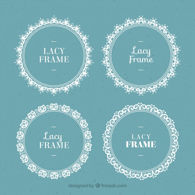 626x626 Set Of Round Lace Frames Vector Free Download