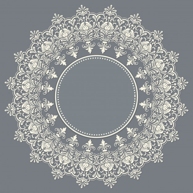 626x626 Vector Ornamental Round Lace With Damask And Arabesque Elements
