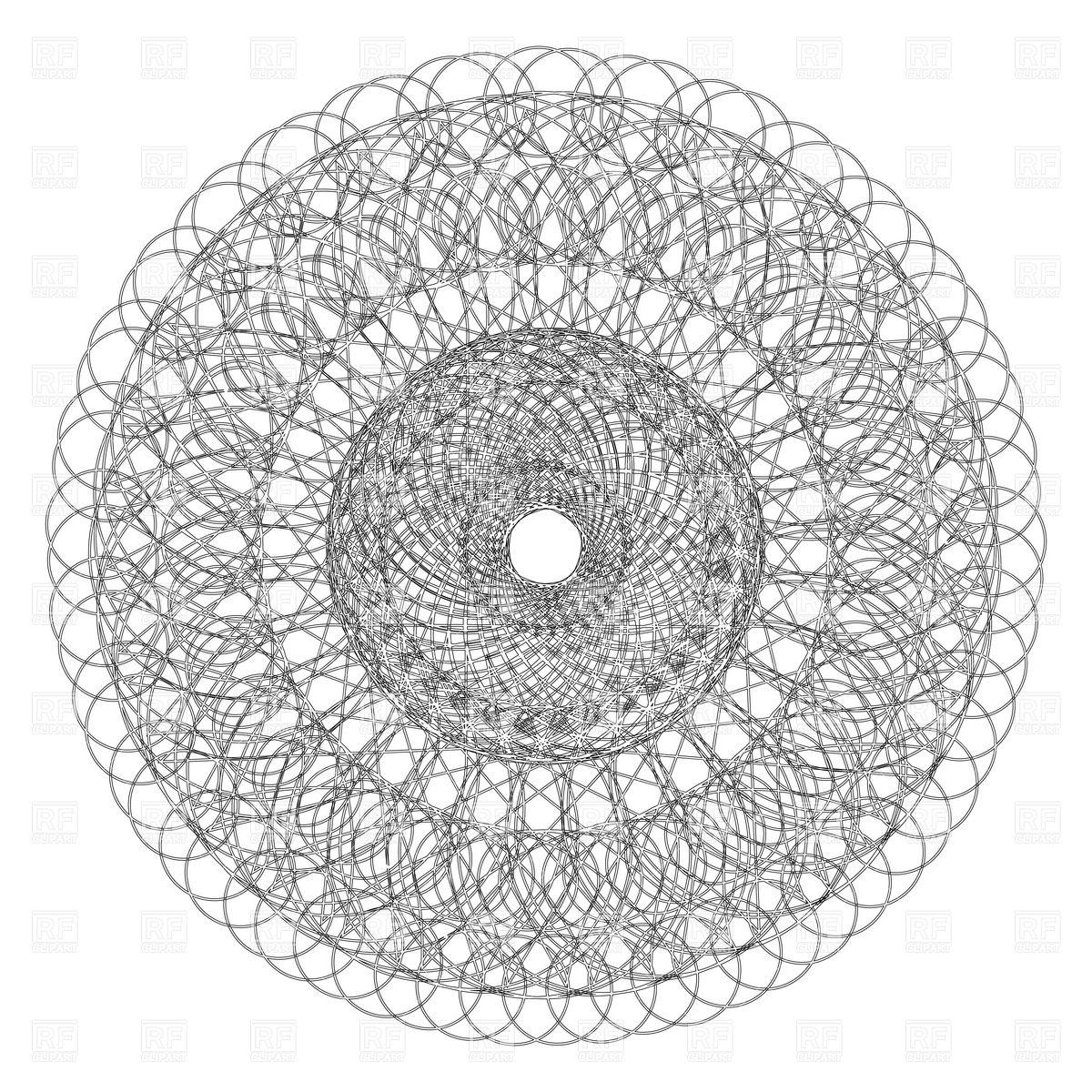 1200x1200 Decorative Round Lace Ornament Vector Image Vector Artwork Of