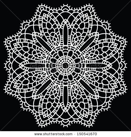 450x470 Doily Round Lace Pattern. Vintage Handmade Knitted Doily. Round