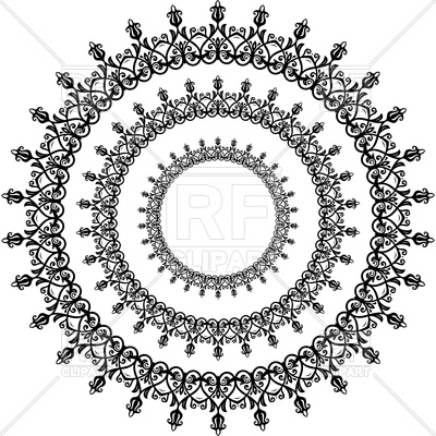 400x400 Floral Round Lace Vector Image Vector Artwork Of Backgrounds