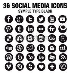 Round Social Media Icons Vector