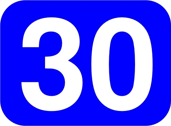 589x434 Blue Rounded Rectangle With Number 30 Clip Art Free Vector In Open