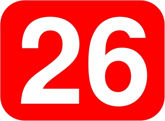 573x422 Red Rounded Rectangle With Number 26 Clip Art Free Vector In Open