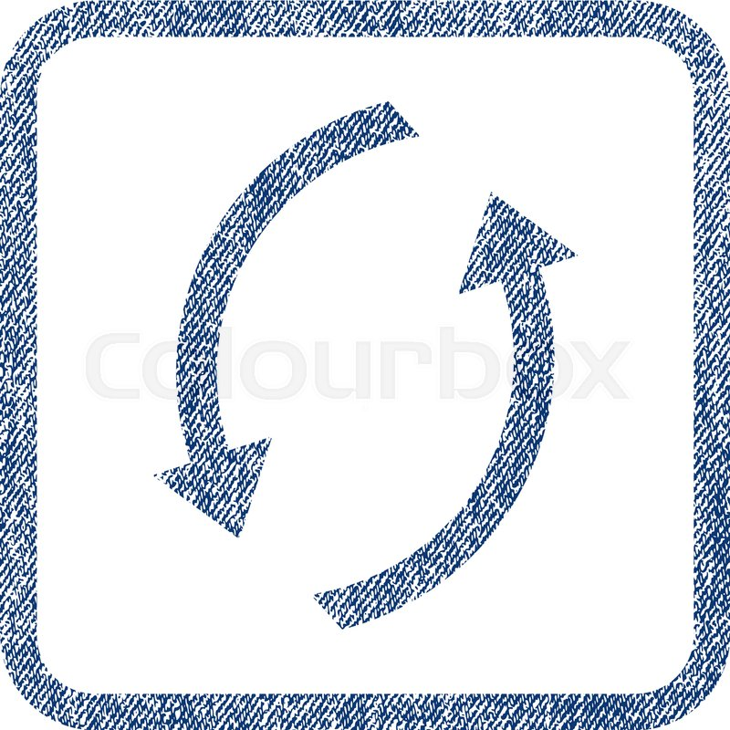 800x800 Refresh Vector Textured Icon For Overlay Watermark Stamps. Blue