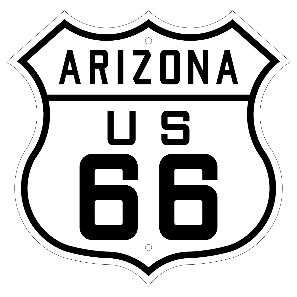 1200x1200 Route 66 Sign Us Arizona 1926 1948 Free Vector Silhouette