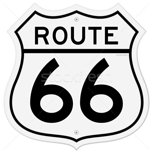 600x600 Route 66 Sign Vector Illustration Vitezslav Valka (Nikdoorg