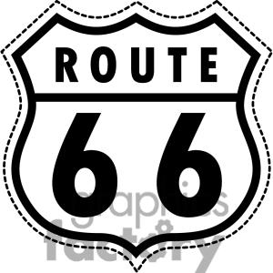 300x300 Route 66 Clipart