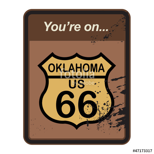 500x500 Route 66 Sign, Vector Illustration Stock Image And Royalty Free
