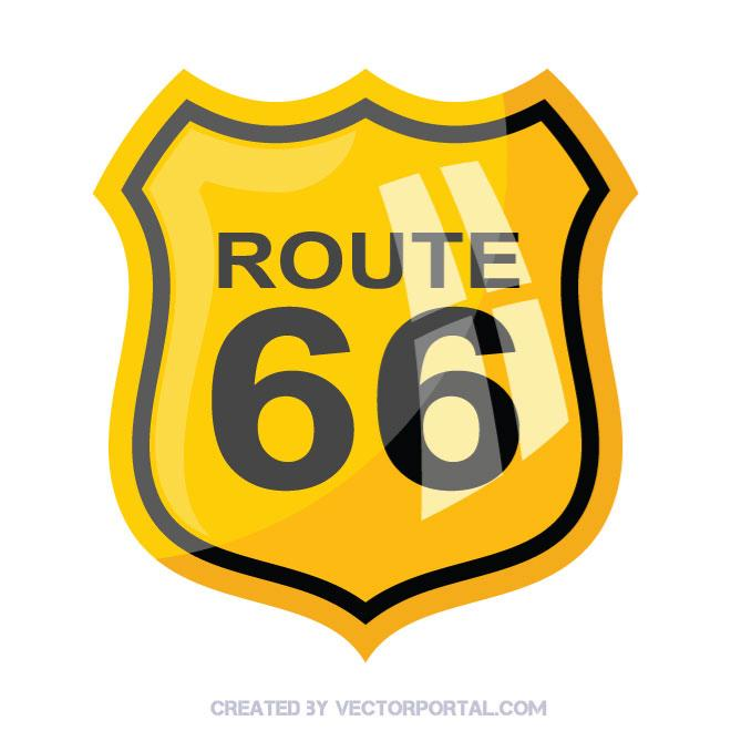660x660 Route 66 Sign Vector Image