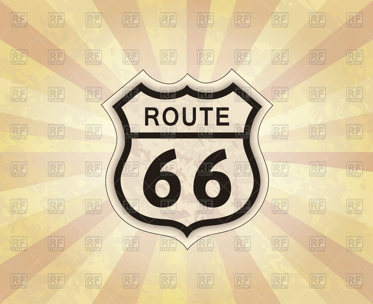 1200x978 Route 66 Sign. American Road Icon. Vector Image Vector Artwork