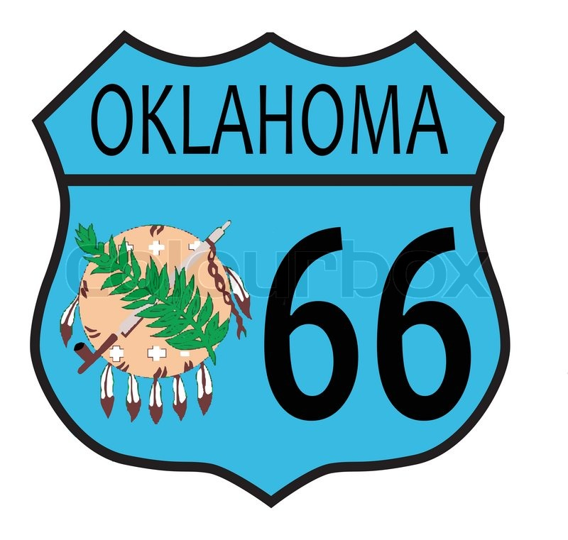 800x761 Route 66 Traffic Sign Over A White Background And The State Name