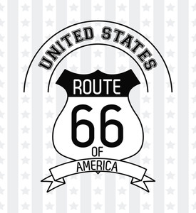 275x300 Route 66 Sign Royalty Free Vectors