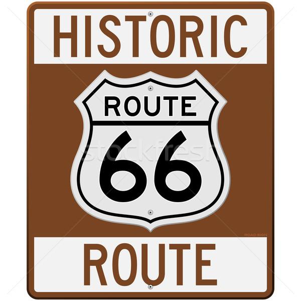 600x600 Historic Route 66 Sign Vector Illustration Vitezslav Valka