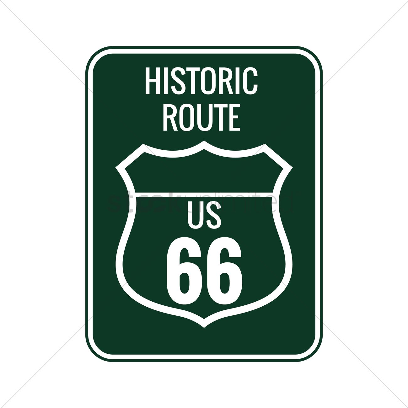 1300x1300 Historic Route 66 Sign Vector Image
