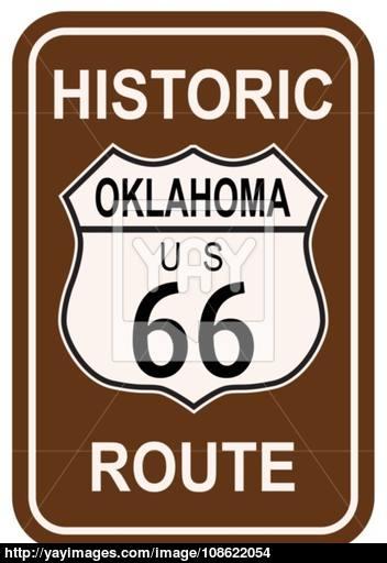 352x512 Oklahoma Historic Route 66 Vector