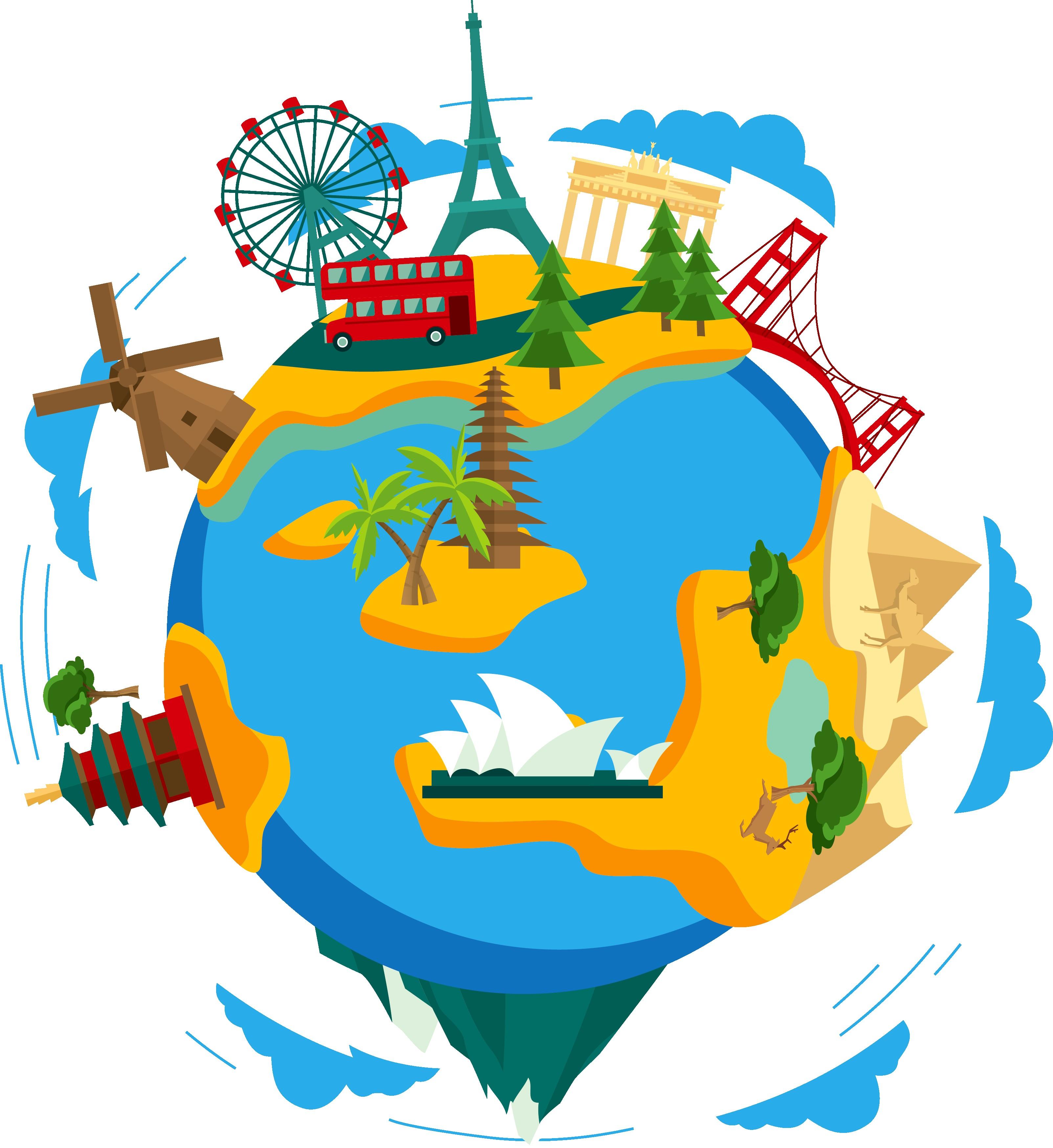 3206x3494 Kisspng Earth Clip Art Global Travel Route Vector 5a89249e8a09f4