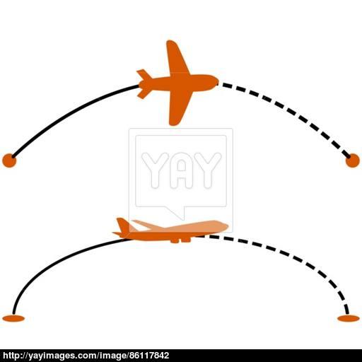 512x512 Plane Route Vector