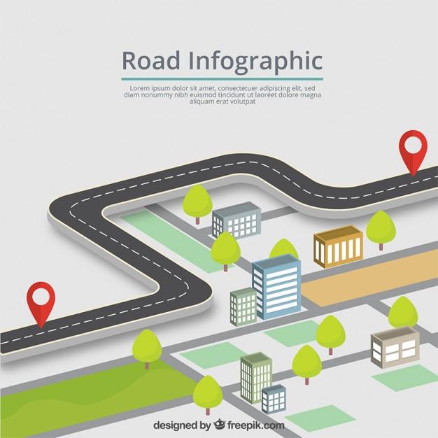 626x626 Route Infographic Vector Premium Download