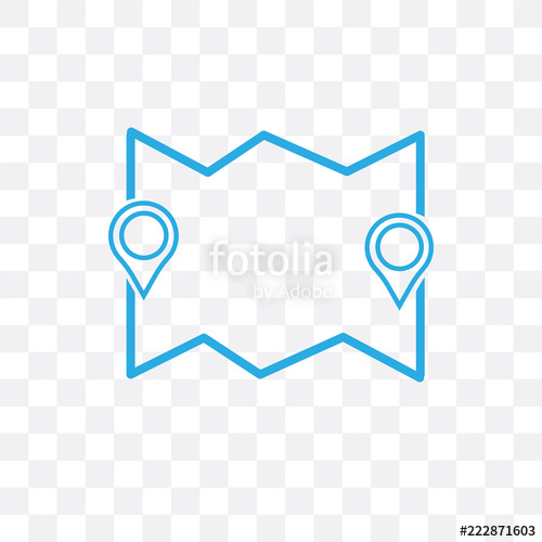500x500 Route Vector Icon Isolated On Transparent Background, Route Logo