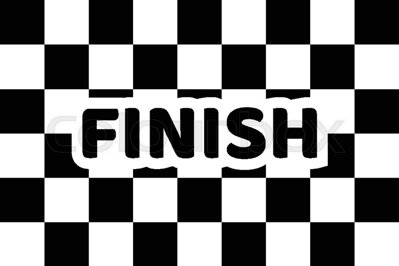 800x533 Flag Auto Racing, Inscription Finish, Flat Icon. Symbol Of Start