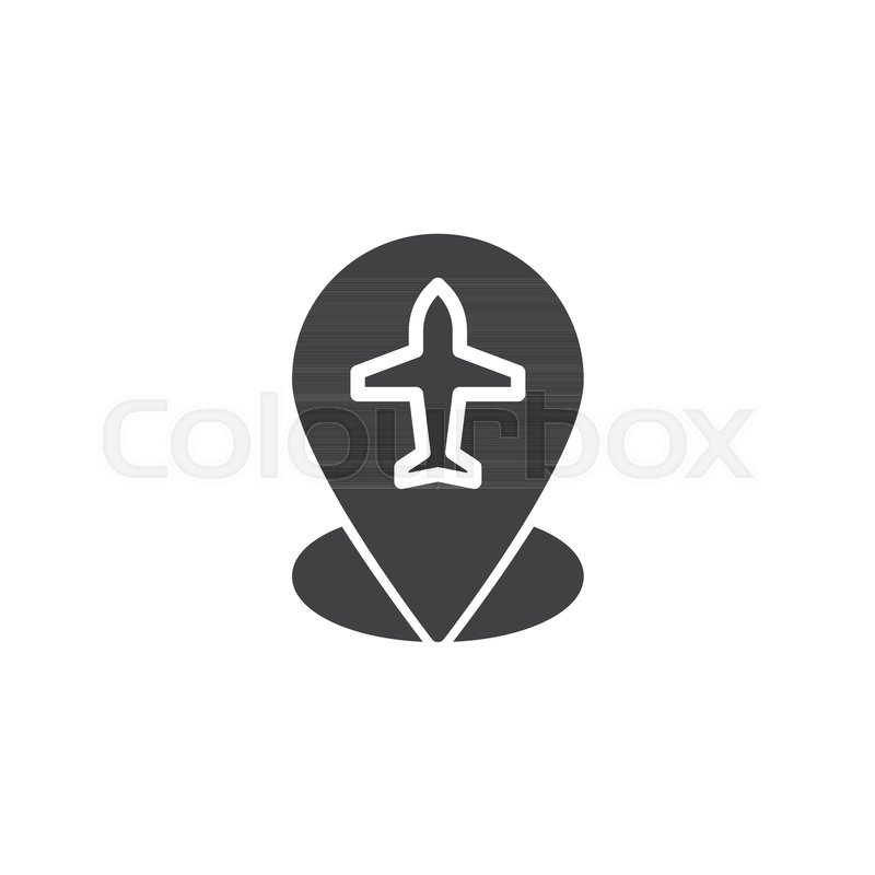 800x800 Flight Route Vector Icon. Filled Flat Sign For Mobile Concept And