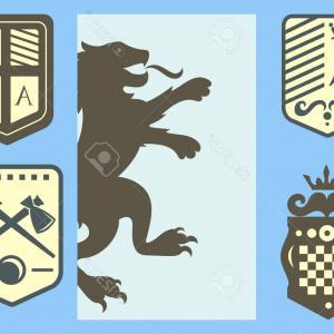 300x300 Photostock Vector Heraldic Lion Royal Crest Medieval Knight