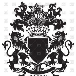 300x300 Royal Crest Coat Arms Heraldry Shield Symbol Silhouette Power Logo
