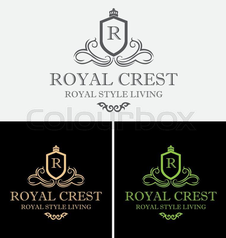 762x800 Royal Crest Logo Vector Design Symbol Stock Vector Colourbox
