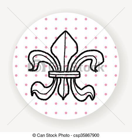 450x470 Royal Crest Doodle Vector Clipart