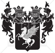 236x227 Royal Crest Emblem With Swirls Vector Image Vector Artwork Of