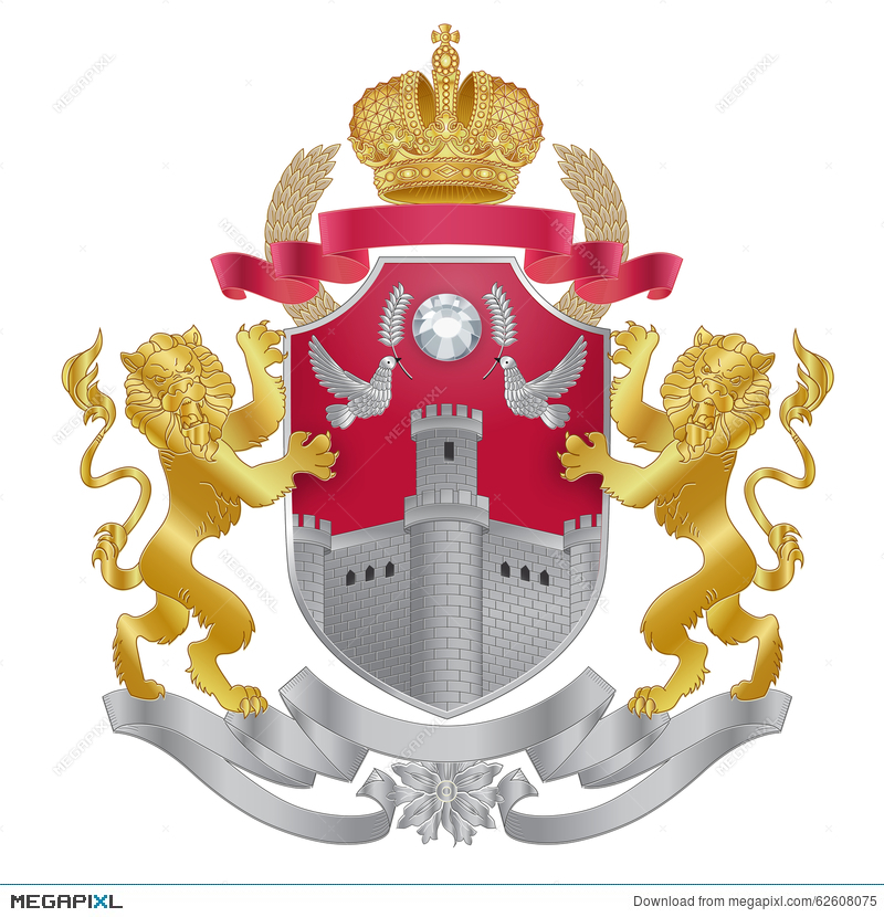 800x830 Vector Heraldic Royal Crests Coat Of Arms. Illustration 62608075