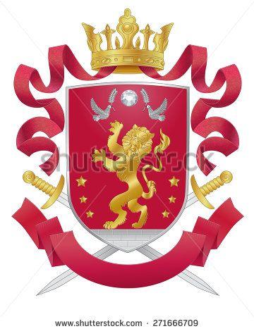 360x470 Vector Heraldic Royal Crests Coat Of Arms. Heraldry Template