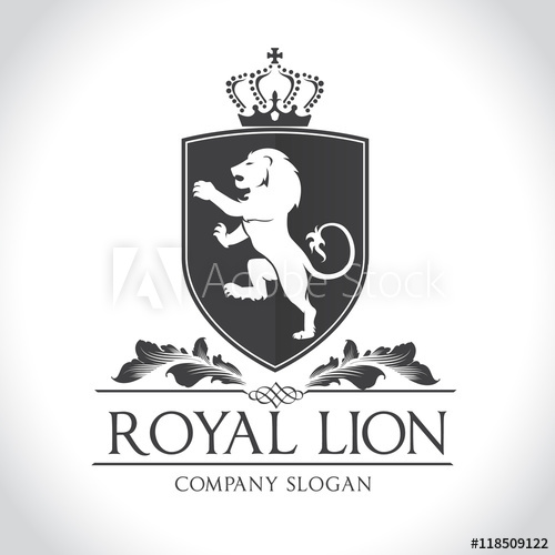 500x500 Lion Logo, Royal Lion Logo,hotel Logo Template
