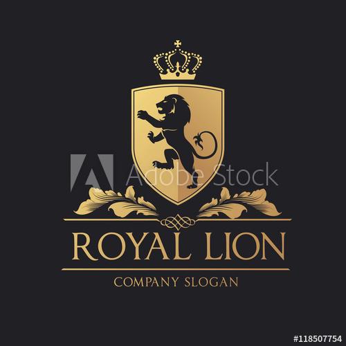 500x500 Royal Lion Logo. Lion Logo. Hotel Logo. Vector Logo Template