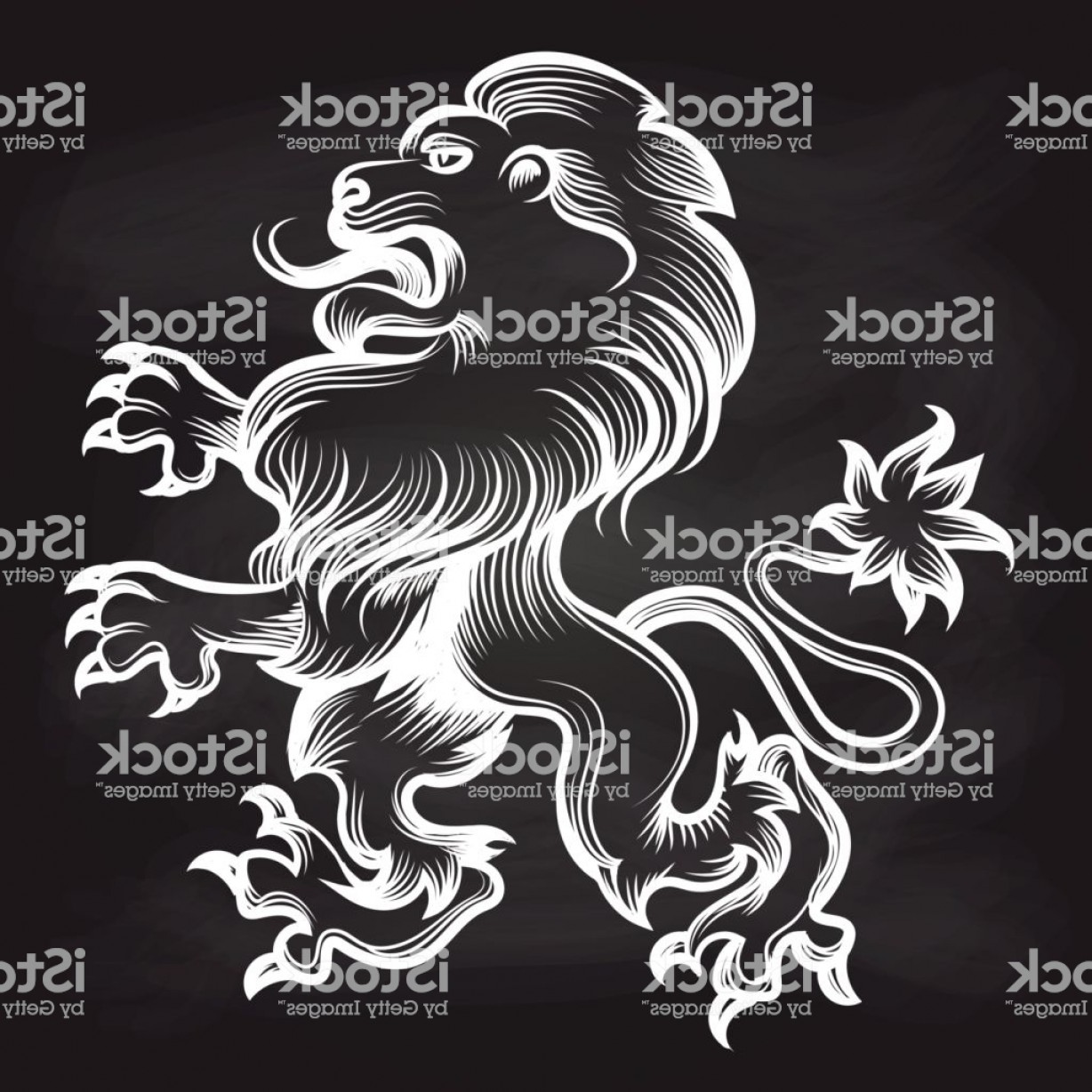 1228x1228 White Engraving Royal Lion On Blackboard Gm Lazttweet