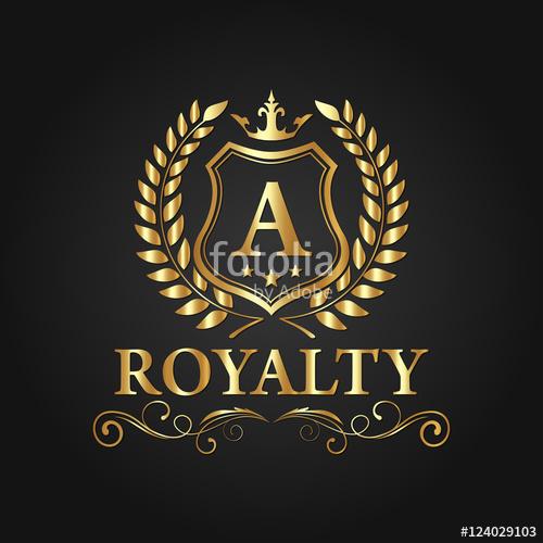 500x500 Royal Brand Logo, Luxury Logo Vector Design Eps 10 Stock Image