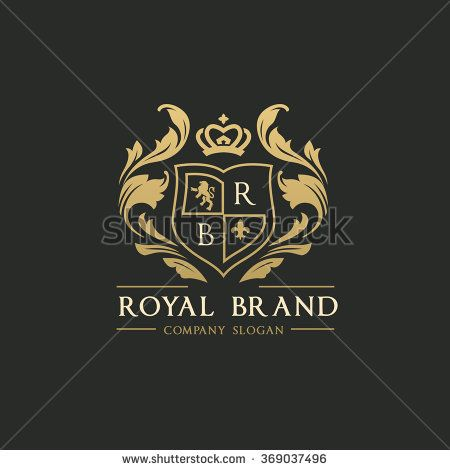 450x470 Royal Brand Logo,crown Logo,lion Logo,crest Logo,vector Logo