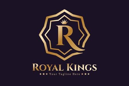 450x300 Royal Logo Vector Template. Hotel Logo. Kings Symbol. Royal Crests